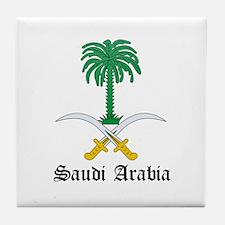 Saudi Coat of Arms Seal Tile Coaster