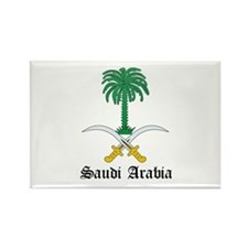 Saudi Coat of Arms Seal Rectangle Magnet