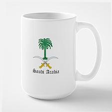 Saudi Coat of Arms Seal Large Mug