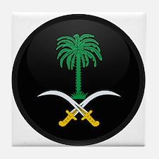 Coat of Arms of Saudi Arabia Tile Coaster