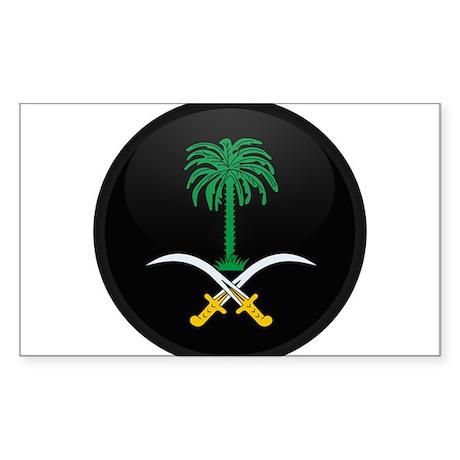 Coat of Arms of Saudi Arabia Rectangle Sticker
