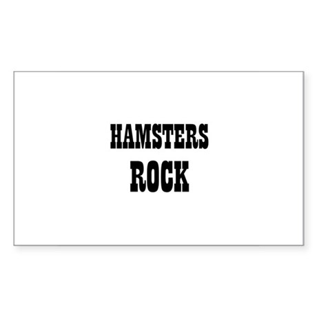 HAMSTERS ROCK Rectangle Sticker