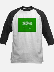 Saudi Arabia Flag Kids Baseball Jersey