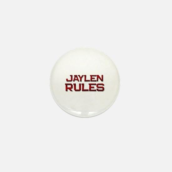 jaylen rules Mini Button