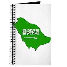 Saudi Arabia Flag Map Journal
