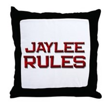 jaylee rules Throw Pillow