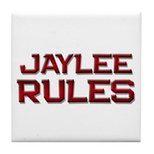 jaylee rules Tile Coaster