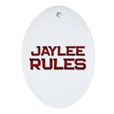 jaylee rules Oval Ornament