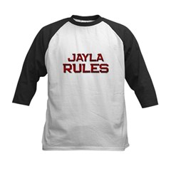 jayla rules Kids Baseball Jersey