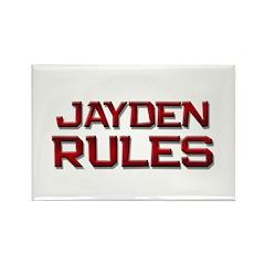 jayden rules Rectangle Magnet (10 pack)