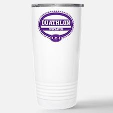 Duathlon Purple Oval-Women's Spectator Travel Mug