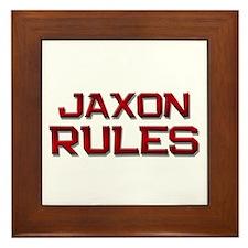 jaxon rules Framed Tile