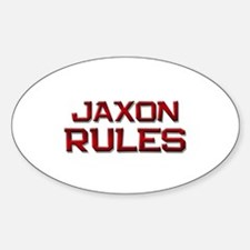 jaxon rules Oval Decal