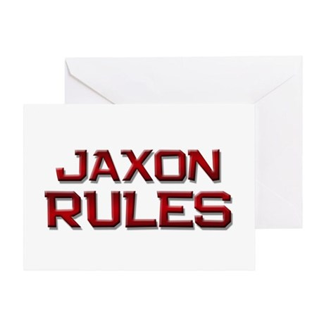 jaxon rules Greeting Card