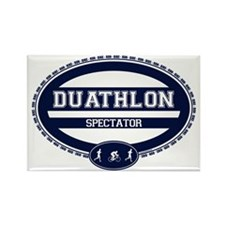 Duathlon Blue Oval-Men's Spectator Rectangle Magne