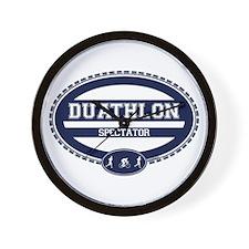 Duathlon Blue Oval-Men's Spectator Wall Clock