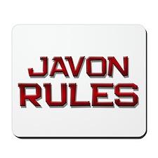 javon rules Mousepad