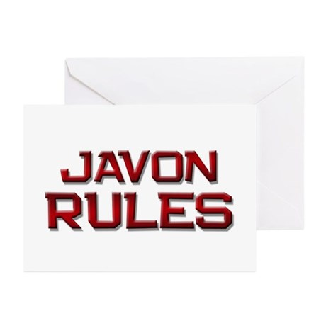 javon rules Greeting Cards (Pk of 10)