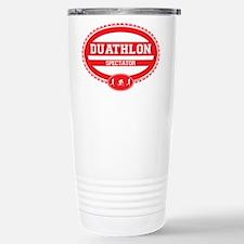 Duathlon Red Oval-Men's Spectator Travel Mug