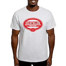 Duathlon Red Oval-Men's Spectator T-Shirt