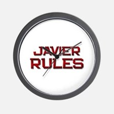 javier rules Wall Clock