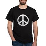 Basic Peace Symbol on a Black T-Shirt