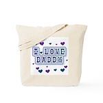 Hearts I Love Daddy Tote Bag