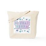 Pastels I Love Mommy Tote Bag