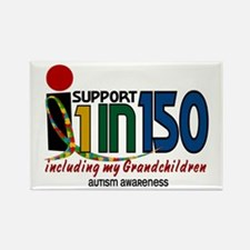 I Support 1 In 150 & My Grandchildren Rectangle Ma