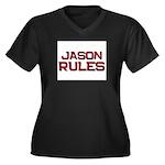 jason rules Women's Plus Size V-Neck Dark T-Shirt