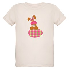 Cute Bunny With Plaid Easter T-Shirt