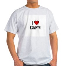 I LOVE KAMRYN Ash Grey T-Shirt
