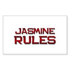 jasmine rules Rectangle Decal