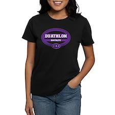 Duathlon Purple Oval-Women's Duathlete Tee