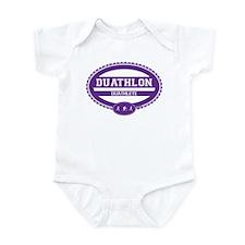 Duathlon Purple Oval-Women's Duathlete Infant Body