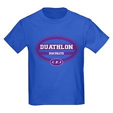 Duathlon Purple Oval-Women's Duathlete T