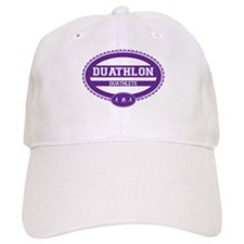 Duathlon Purple Oval-Women's Duathlete Baseball Cap