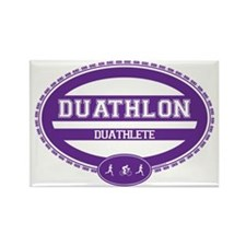 Duathlon Purple Oval-Women's Duathlete Rectangle M