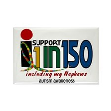 I Support 1 In 150 & My Nephews Rectangle Magnet