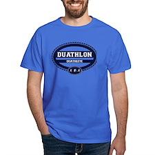 Duathlon Blue Oval-Women's Duathlete T-Shirt