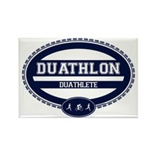 Duathlon Blue Oval-Women's Duathlete Rectangle Mag