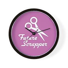 Future Scrapper Wall Clock