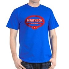 Duathlon Red Oval-Men's Duathlete T-Shirt
