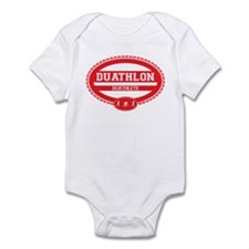 Duathlon Red Oval-Men's Duathlete Infant Bodysuit