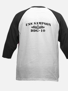 USS SAMPSON Kids Baseball Jersey