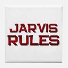 jarvis rules Tile Coaster