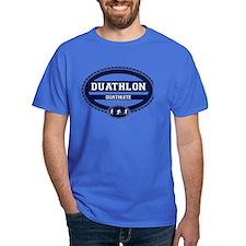 Duathlon Blue Oval-Men's Duathlete T-Shirt