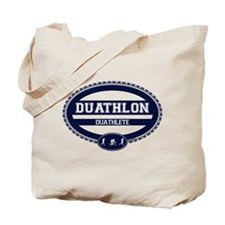 Duathlon Blue Oval-Men's Duathlete Tote Bag
