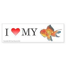 I Love My Lionhead Oranda Bumper Bumper Sticker