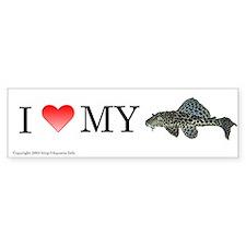 I Love My Pleco Bumper Bumper Sticker